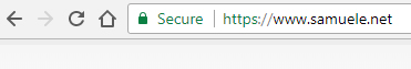 Indirizzo Samuele net su Chrome