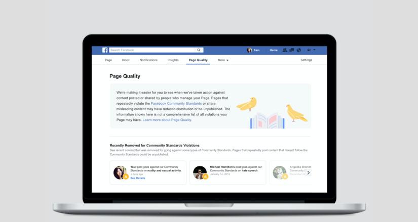 Facebook e qualità della pagina.