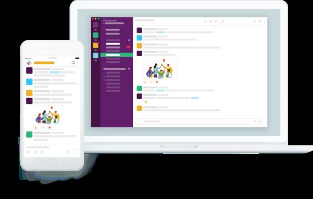 app slack mboile e desktop