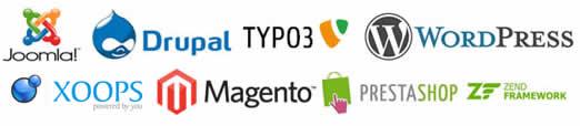 CMS più utilizzati: Wordpress, Drupal, Joomla, Magento