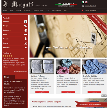 Margutti.com - Vendita online camicie su misura fatte a mano
