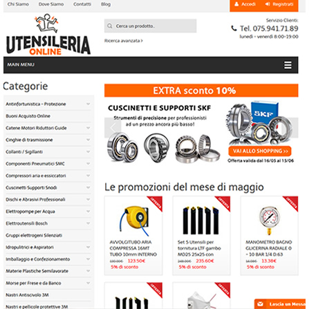 UtensileriaOnline.it - E-commerce Ferramenta Professionale